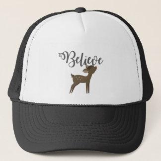 Believe Baby Reindeer Rudolph Shirt Trucker Hat