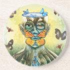 BELIEVE Butterflies Sandstone Coaster