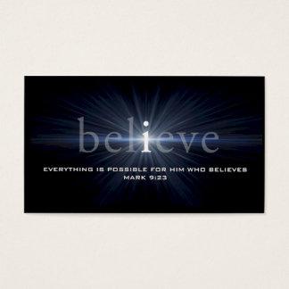 """Believe"" Christian Message Card"