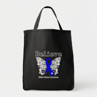 Believe - Colon Cancer Butterfly Bag