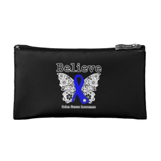 Believe - Colon Cancer Butterfly Cosmetics Bags