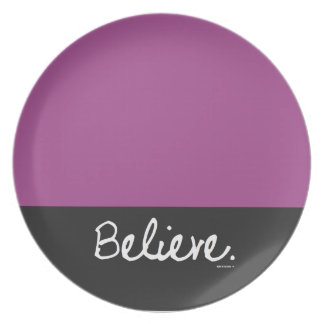 Believe Color Block Plate