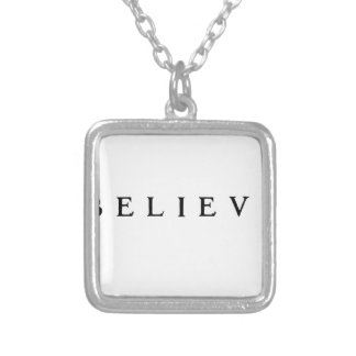 Believe - Cool Modern Silver Plated Necklace