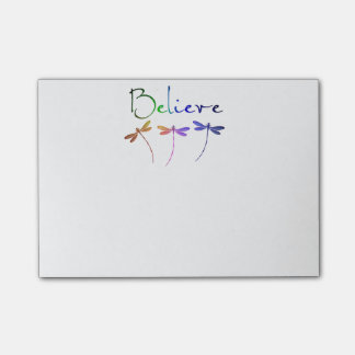 Believe dragonflies post-it® notes