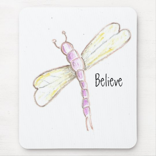 Believe Dragonfly Mousepad