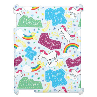 Believe, Dream Big, Imagine Unicorn iPad Case