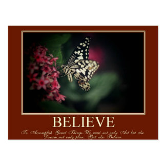 Believe, Dream Postcard