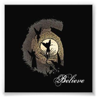 """Believe"" Fairies and the Moonlight Fantasy Print Art Photo"