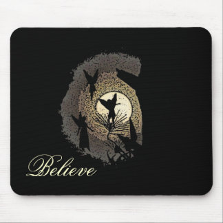 """""""Believe"""" Fairies in the Moonlight Mousepad Gift"""