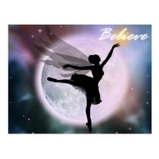 Believe fairy dance postcard