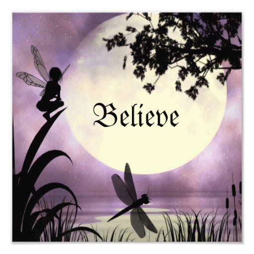 Believe fairy print photo print