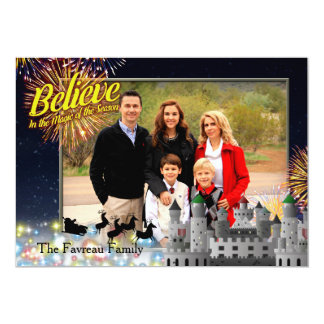 Believe - Fireworks By The Castle Card