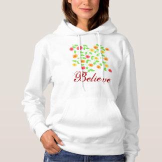 Believe Flowered Hoodie