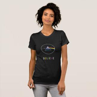 believe-flying pig in prism design T-Shirt
