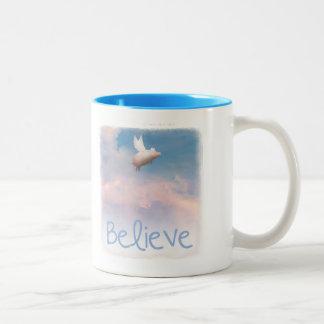 believe-flying pig mug