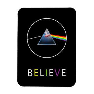 Believe-Flying Pig Prism Design Rectangular Photo Magnet