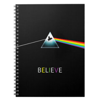 Believe-Flying Pig Prism Notebooks