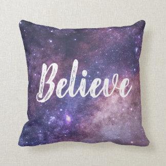 Believe(Galaxy) Throw Pillow