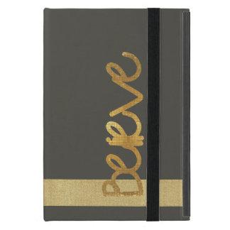 Believe Gold Tile iPad Case