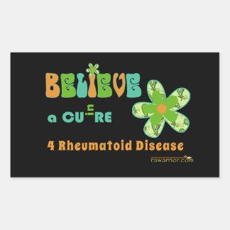 BELIEVE in a cure for rheumatoid disease/arthritis Sticker