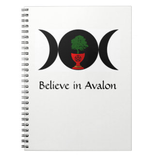 Believe in Avalon Spiral Notebook