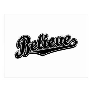 Believe in Black Deluxe Postcard
