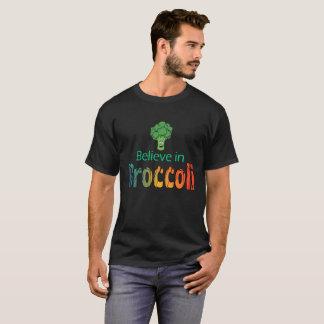 Believe In Broccoli Funny Vegan Gift Tee