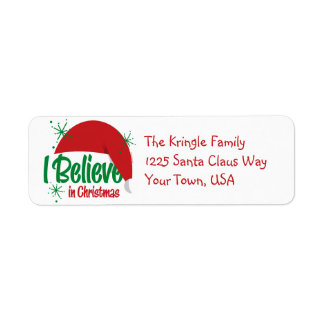 Believe In Christmas Address Labels