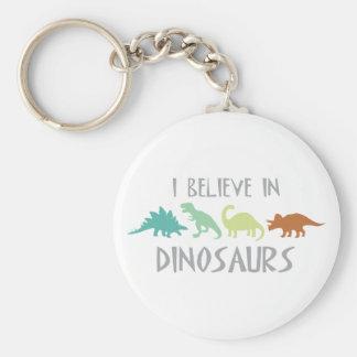 Believe in Dinosaurs Keychain
