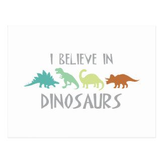 Believe in Dinosaurs Postcard