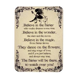 "Believe In Fairies 3""x4"" Photo Magnet"