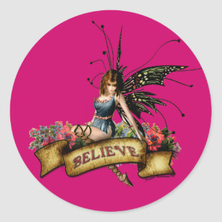 Believe in Fairies! Classic Round Sticker