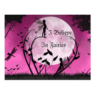 believe In Fairies moonlight postcard
