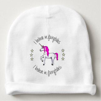 Believe in fairytales unicorn cartoon baby beanie