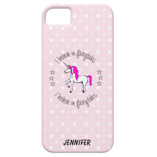 Believe in fairytales unicorn cartoon girls iPhone 5 covers
