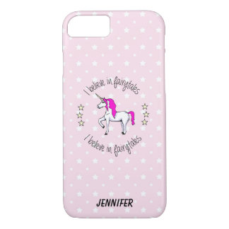 Believe in fairytales unicorn cartoon girls iPhone 8/7 case