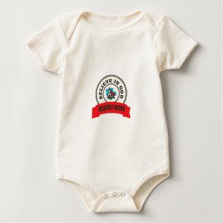 believe in God in heaven Baby Bodysuit
