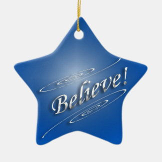 Believe In Him Christmas Ornament