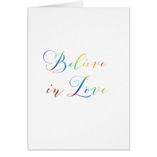 Believe in love, VALENTINE'S DAY Greeting card