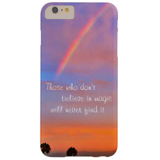 """""""Believe in Magic"""" Quote Rainbow Sunrise Photo Barely There iPhone 6 Plus Case"""