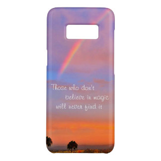 """Believe in Magic"" Quote Rainbow Sunrise Photo Case-Mate Samsung Galaxy S8 Case"