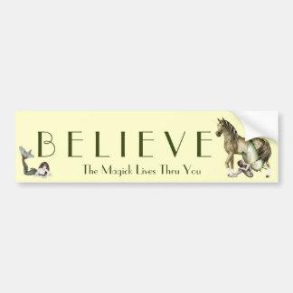 Believe in Magick Bumper Sticker