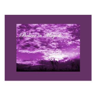 Believe in Magick postcard
