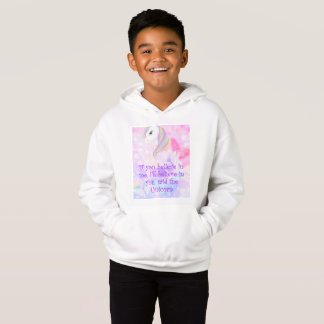 'Believe in me' Cute girls Unicorn Love hoodie