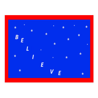 Believe in Miracles Christmas Postcard
