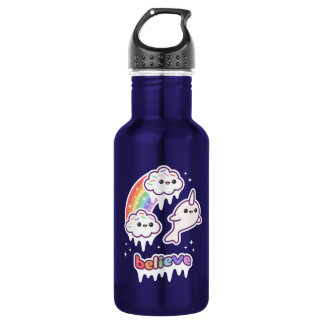 Believe in Narwhals 532 Ml Water Bottle