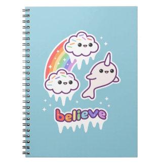 Believe in Narwhals Spiral Notebook