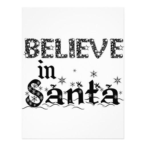 Believe in Santa Letterhead Design