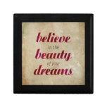 Believe in the beauty of your dreams gift boxes