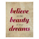 Believe in the beauty of your dreams letterhead template